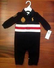 NEW WITH TAG RALPH LAUREN POLO BABY BOY ROMPER (ONE PIECE)