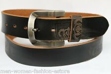 MEN'S WOMEN'S CASUAL DRESS JEANS GENUINE LEATHER BELT M L XL W/ REMOVABLE BUCKLE