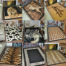New Large Small Animal Leopard Zebra Print Rugs Runner Modern Soft Carpet Cheap