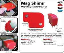 New FastCap Mag Shims Magnetic Spacers for Table Saw Router and Drill Press