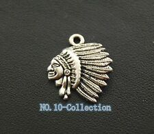 Free shipping 20pc classics Indian Chief Charm Native American Charms pendants