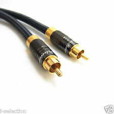 Premium Coaxial Coax Digital RCA Cable Gold Plated Audio S/PDIF Video 0.5m ~ 15m