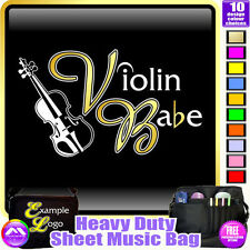 Violin Babe - Sheet Music & Accessories Personalised Bag by MusicaliTee
