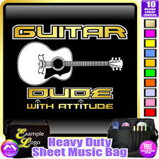 Acoustic Guitar Dude With Attitude - Sheet Music & Accessories Bag MusicaliTee