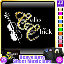 Cello Chick - Sheet Music & Accessories Personalised Bag by MusicaliTee