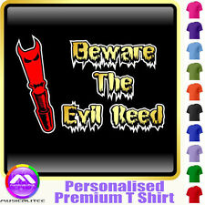 Oboe Beware Evil Reed - Personalised Music T Shirt 5yrs - 6XL by MusicaliTee