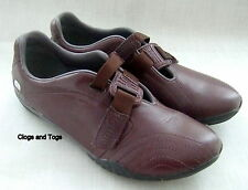 NEW CLARKS TYON IROKO STRAP BORDEAUX LEATHER SPORTS SHOES SIZE 4 / 37