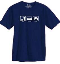 """FOR NEW MEN'S PRINTED """"EAT SLEEP GAME"""" FUNNY T-SHIRT ALL SIZE"""