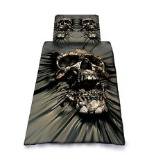 SKULL RIP-THRU - Duvet Cover Single Bed Set by David Penfound / Gothic, Metal,