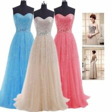 Womens Sequin Plus Size Long Prom Party Dresses Bridesmaid Cocktail Club Gowns