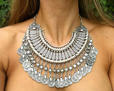 Perfect Boho Coin Necklace Belly Dance Ethnic Bohemian Festival Jewelry Cheap