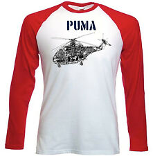 PUMA HELICOPTER INSPIRED- RED SLEEVED TSHIRT- S-M-L-XL-XXL
