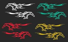 FLAMING MUSTANG CAR WINDOW VINYL DECAL..2 FOR 1 PRICING