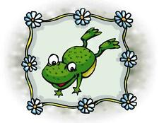 Custom Made T Shirt Summer Time Spring Cute Frog Flowers Adorable Kids Adults