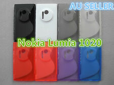 Nokia Lumia 1020 S Curve Slim Soft Silicone Matte Rubber Gel Back Cover Case