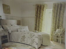 Allium lemon yellow bedding quilt cover sets and matching curtains double king
