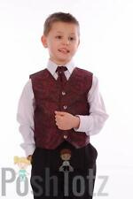 Baby Boys Suits, Pageboy, Formal, Wedding, 4pc Wine Paisley Suit, 0-3mths-15yr
