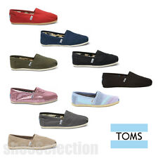 TOMS WOMEN'S Classic All Colors Canvas Slip On Shoes 100% Authentic NEW IN BOX