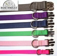 Nylon Dog Collars - Various colors and sizes available !!! Made in USA by NWCS