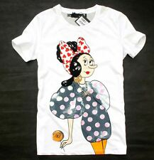 NWT Love 2015 Women's 19906 sweet Oliver pattern Moschino Net yarn back T-shirt