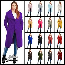 New Womens Drape Belt Waterfall Long Coat Abaya Sleeve Celeb Cape Fashion Jacket