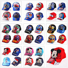 Brand New Kids Boys Baymax Cars Mickey Minions Sun  Baseball Cap Hat Adjustable