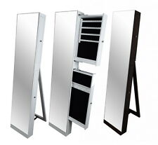 Large Full Length Floor Standing Mirror Jewellery Cabinet  Jewelery Organizer
