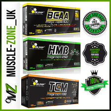 OLIMP BCAA+HMB+Tri Creatine Malate 90/180 Caps Whey Pills Amino Acids Ripped