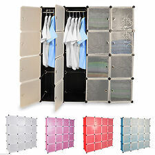 DIY Storage Cubes Wardrobe Hanger Cupboard Cabinet Shoe Toy Rack Book Shelf