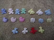 NOVELTY BUTTONS-TEDDYBEAR-RABBIT-DUCK-ELEPHANT-PLANES -DOLPHINS-BOWS