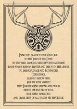 Wiccan God, Pan, Horned One, Greenman, Father Spirit Posters
