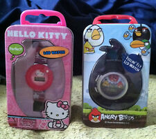 Character Watch in Collector Tin with Handle - Angry Birds or Hello Kitty