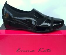 Patent leather slip on wedges - Emma Kate