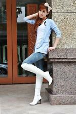 Hot Fashion Women's Sexy High Heel Boots Knee High Shoes US ALL Size F031