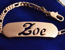 ZOE - Name In A Bracelet - Silver Plated - 18ct Gold Plated - Gifts For Her