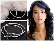 Fashion Jewellery Silver Filled Basketball Wives Loops Big Circle Hoop Earrings
