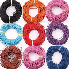 3/10/100M Free shipping Leather Rope String Cord Necklace String 1.5mm 16Colors