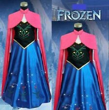 FROZEN STYLE ADULT COSPLAY PRINCESS ANNA DRESS AND CAPE PARTY FANCY COSTUME  821