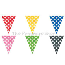 12ft Polka Dot Spotty Flag Banner Bunting Garland Party Decorations Supplies