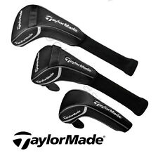 Taylor Made Golf Replacement Black Driver/Fairway/Hybrid Headcovers-New.