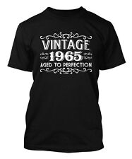 Vintage 1965 - Aged To Perfection - 50th Birthday Men's T-shirt