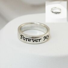 Forever My Daughter Ring - 925 Sterling Silver - Mother Daughter Ring Bond NEW