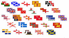 Motorbike Stickers 2 Pack UK NATIONAL FLAGS Flags 60mm x 30mm Buy 2 get 1 FREE
