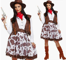 Ladies Western Theme Costume Womens Wild West Cowgirl fancy Dress Hen Do Party