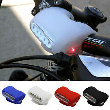 7 LED Bicycle Cycling Head Light Bike Silicone Frog Front Safety Warning Lamp