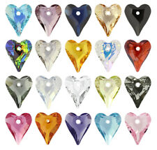 Genuine SWAROVSKI 6240 Wild Heart Crystals Pendants * Many Colors & Sizes
