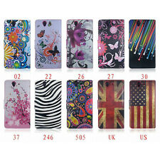 For Sony Xperia Phone Stand Flip Wallet Leather Skin Soft Rubber Case Cover New