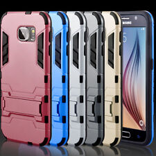 Hybrid Shockproof Hard Bumper Soft Slim Case Cover For Samsung Galaxy S6 Gold