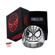 Stainless Steel Spider-Man Face Ring Classic Superhero Hero Free Shipping