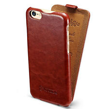 For Apple iPhone 6 Vertical Flip Retro Glossy PU Leather Stand Fitted Case Cover